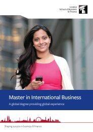 Master in International Business - Aranea