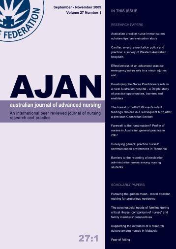 September - Australian Journal of Advanced Nursing