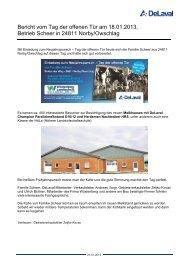 Bericht vom Tag der offenen Tür am 18.01.2013, Betrieb ... - DeLaval