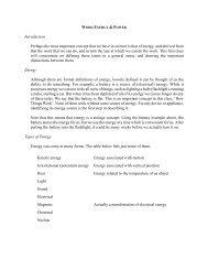 Work, Energy, and Power - Physics