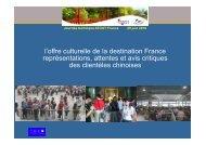 Représentations et perceptions du patrimoine ... - Atout France