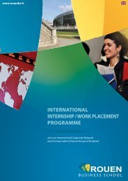 international internship / work placement programme - NEOMA ...