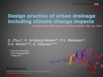 Design of urban drainage structures incorporating climate change ...