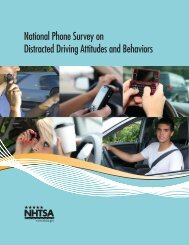 National Phone Survey on Distracted Driving Attitudes and Behaviors