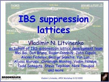 IBS suppression lattices