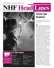 147, November/December 2005 - National Headache Foundation