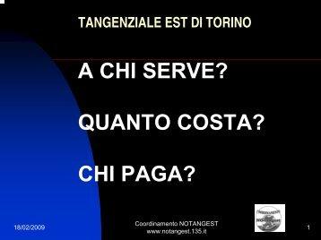 A chi serve-I costi di Luigi Cerini - NoTangEst