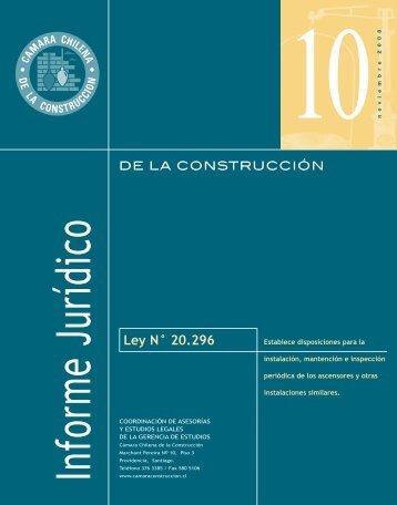 Ley N° 20.296 - Biblioteca - Cámara Chilena de la Construcción