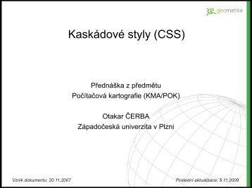 Kaskádové styly (CSS) - Západočeská univerzita v Plzni