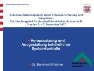 Voraussetzung und Ausgestaltung behördlicher Systemkontrolle