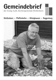 Gemeindebrief 252.pdf - Evang.-Luth. Kirchengemeinde Weißenhorn