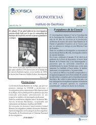 GEONOTICIAS - Instituto de Geofísica de la UNAM