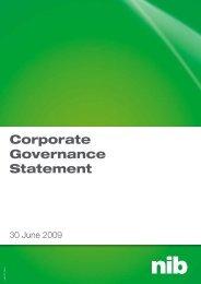 Corporate Governance Statement - nib