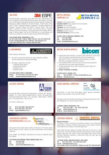 Dental Suppliers - International Dentistry SA - Modern Dentistry Media
