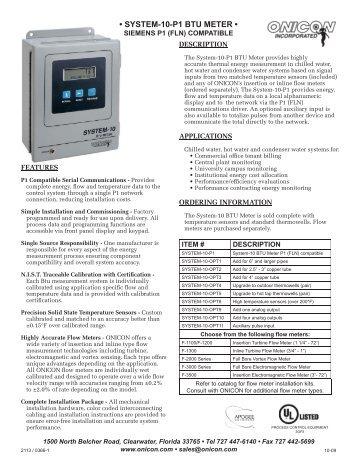 System 10 Btu Meter Johnson Controls N2 Version