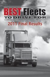 2011 Final Results - Best Fleets to Drive For