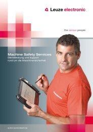 Produktbroschüre Machine Safety Services (PDF) - Leuze electronic
