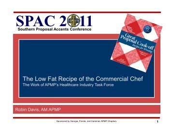 The Low Fat Recipe of the Commercial Chef - SPAC