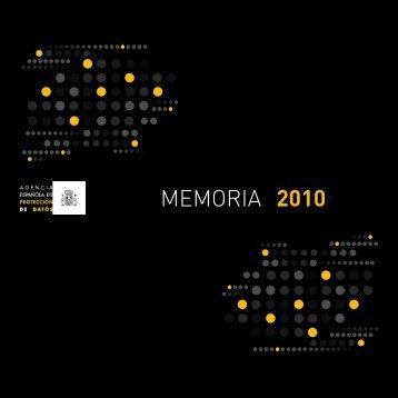 MEMORIA 2010 - Agencia Española de Protección de Datos
