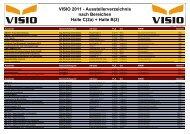 VISIO 2011 - Ausstellerverzeichnis nach Bereichen ... - VISIO-Tirol