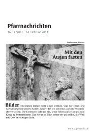 Pfarrnachrichten vom 16. bis zum 24. Februar 2013 - St. Petronilla