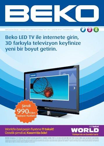 Beko LED TV ile internete girin, 3D farkıyla televizyon keyfinize yeni ...