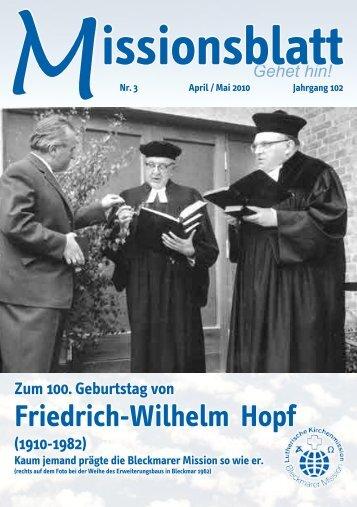 Missionsblatt April / Mai 2010 - Lutherische Kirchenmission Bleckmar