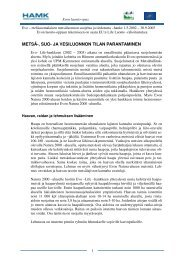 Ennallistaminen ja lajisto Evolla (pdf) - Hämeen ammattikorkeakoulu