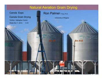 Canola Grain Drying - SaskCanola