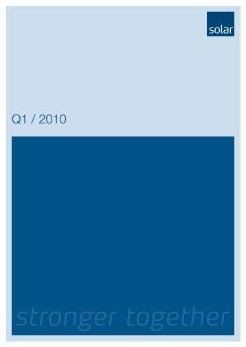 Q1 / 2010 - Solar.eu