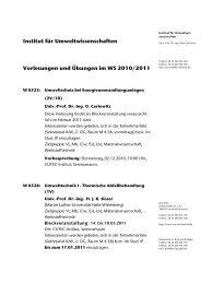 Institut für Umweltwissenschaften Vorlesungen und Übungen im WS ...