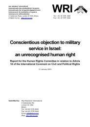 Conscientious objection to military service in Israel - War Resisters ...