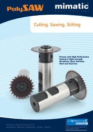 Cutting, Sawing, Slitting