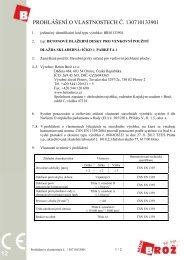PROHLÁŠENÍ O VLASTNOSTECH Č. 130710133901 - Beton Brož