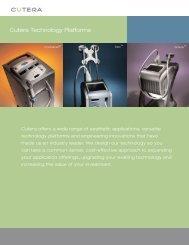 Cutera Technology Platforms - Lcrhea