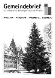 Gemeindebrief Nr. 249 - Evang.-Luth. Kirchengemeinde Weißenhorn