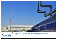 Q1 2012 Financial Results Presentation - Severstal