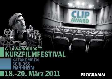 PROGRAMM - Clipaward Mannheim