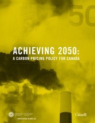 Achieving 2050: A Carbon Pricing Policy for Canada - NEIA