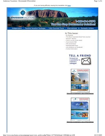 South Pacific Specials - October 2009 - Anderson Vacations