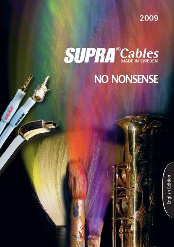 English - Supra cables