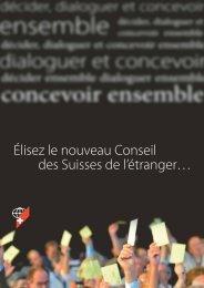 Feuille d'information à propos des élections au conseil des Suisses ...
