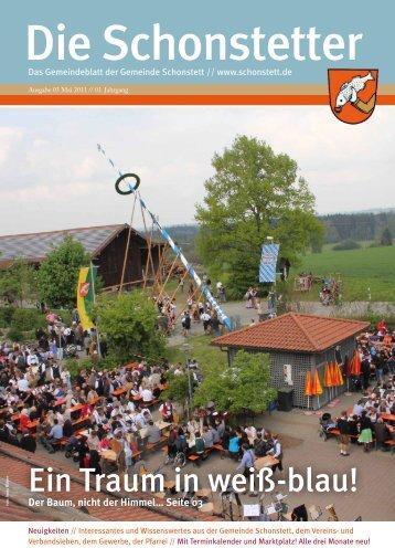 Ein Traum in weiß-blau! - Gemeinde Schonstett