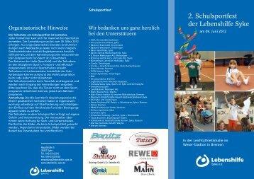 2. Schulsportfest der Lebenshilfe Syke - Lebenshilfe Syke eV
