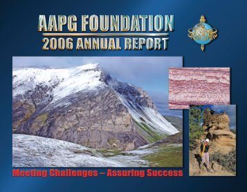 Distinguished Lecture Fund - the AAPG Foundation - American ...