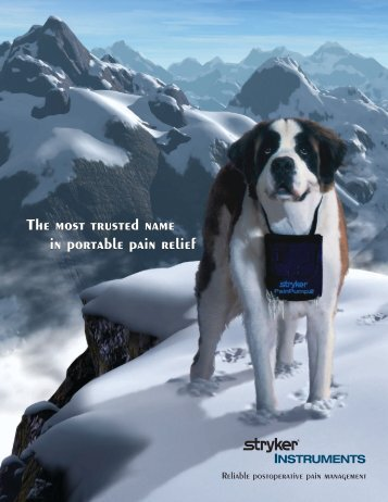 The most trusted name in portable pain relief The ... - Stryker do Brasil