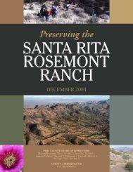 Preserving the Santa Rita Rosemont Ranch - Pima County