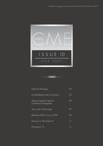 SNEC CME Newsletter June Issue - Singapore National Eye Centre