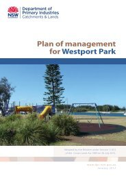 Plan of management for Westport Park - Land - NSW Government