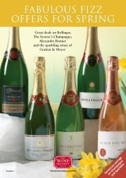 FABULOUS FIZZ OFFERS FOR SPRING - The Wine Society